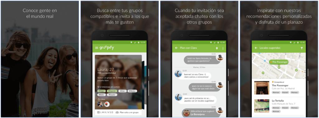 Screenshots Groopify