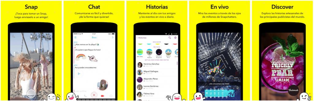 Screenshots Snapchat