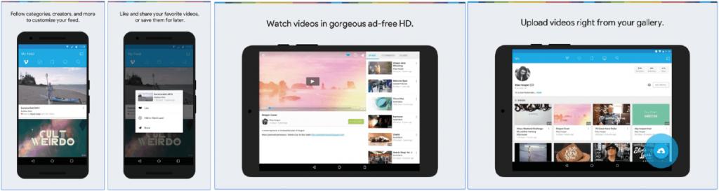 App Screenshot Vimeo